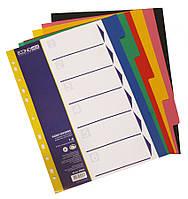 Разделители страниц  пластиковые А4, 6 разделов в 6 цветах, Economix