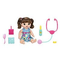 """Baby Alive Интерактивная кукла """"Малышка у врача"""", брюнетка Sweet Tears Baby, фото 1"""