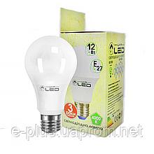 Светодиодная лампа 12Вт, Е27 (Груша), 4000К
