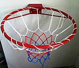 Кольцо баскетбольное облегченное с сеткой, фото 3