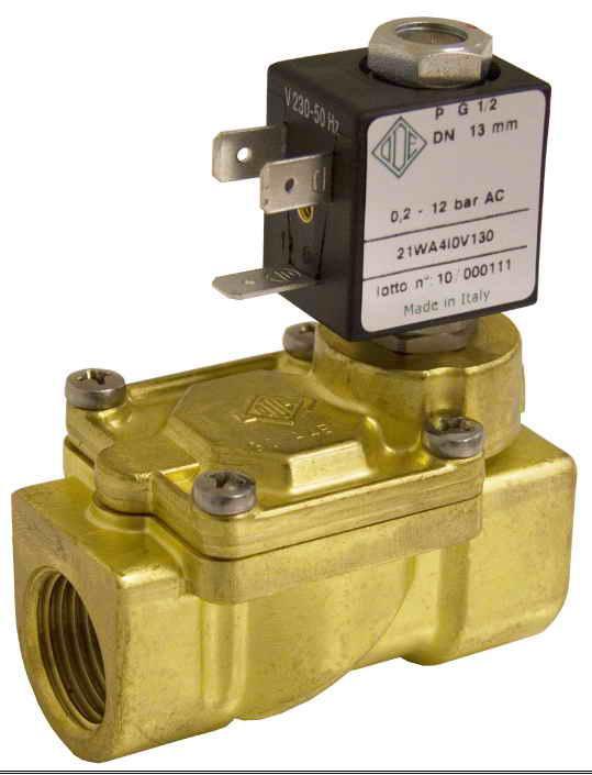 Электромагнитный клапан для пара 21WA3I0E130 (ODE, Italy), G 3/8, Купить в Киеве