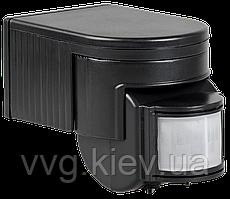 Датчик движения ДД 012 черный, максимальная нагрузка 1100Вт, угол обзора 180 градусов, дальность 12м IP44 IEK