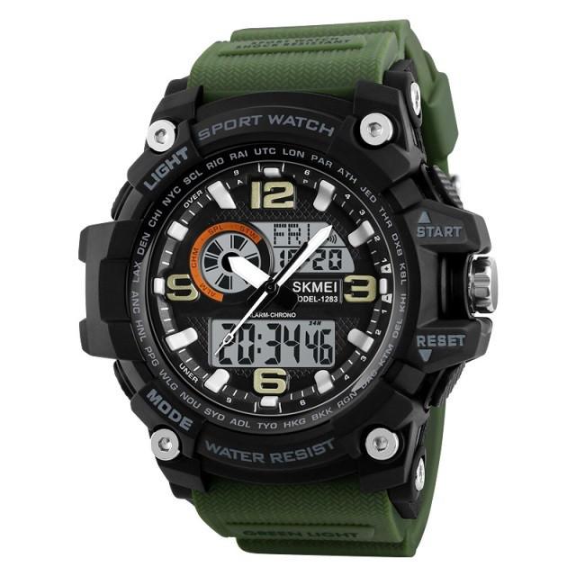 Спортивные мужские часы SKMEI DISEL 1283 GREEN