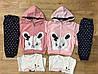 Трикотажный костюм на девочку оптом, F&D, 1-5 рр