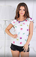 Легкая летняя блузка 16- 7886, фото 1