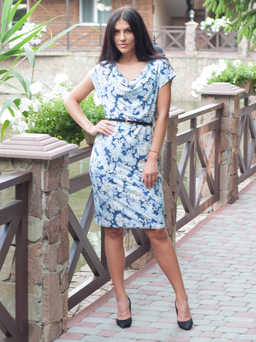 Женское летнее платье по колено 46,48,50,52