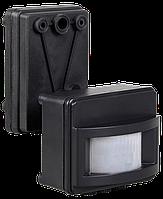 Датчик движения ДД 017 черный, максимальная нагрузка 1100Вт, угол обзора 120 градусов, дальность 12м IP44 IEK, фото 1