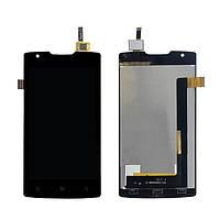 Дисплей (экран) для Lenovo A1000 IdeaPhone + тачскрин, черный