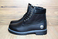 Ботинки женские в стиле Timberland код товара OD-3140. Черные