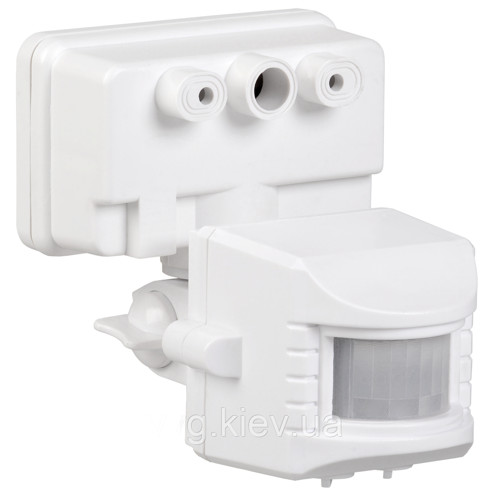 Датчик движения ДД 019В белый, максимальная нагрузка 1100Вт угол обзора 120 градусов, дальность 12м IP44 IEK