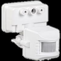 Датчик движения ДД 019В белый, максимальная нагрузка 1100Вт угол обзора 120 градусов, дальность 12м IP44 IEK, фото 1