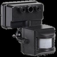 Датчик движения ДД 019 черный, максимальная нагрузка 1100Вт угол обзора 120 градусов, дальность 12м IP44 IEK, фото 1