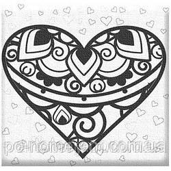 Рисование по номерам Сердце (AR20) 20 х 20 см ArtStory