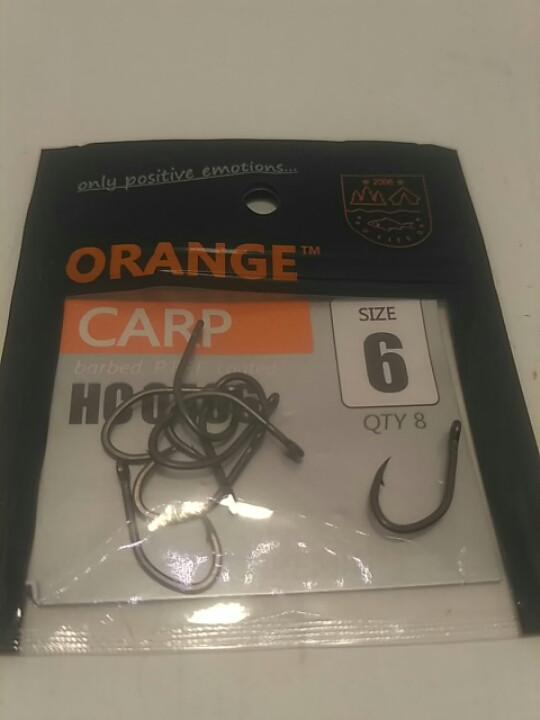 Карповые крючек#6  Orange carp