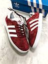 Кроссовки унисекс бордовый Адидас Газели (Adidas Gazelle) Размер: 36-44, фото 2