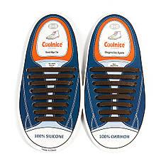 Силиконовые шнурки Coolnice Коричневые (8+8) 16 шт/комплект