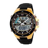 Спортивные мужские часы SKMEI 1016 SHARK GOLD