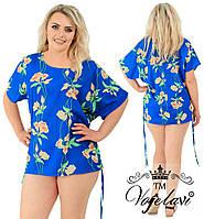 Женская блузка - туника с цветами № A1148