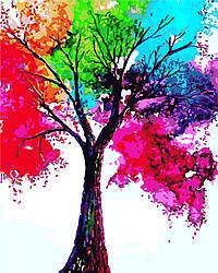 Картина по номерам Яркое дерево (AS0306) 40 х 50 см ArtStory