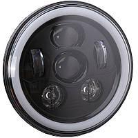 Фара мото LED 7 дюймів DL-7S03 (Black RGB)  Нива, УАЗ 469, ГАЗ 24, ВАЗ 2101, Хаммер, FJ Cruiser, w463, мото