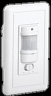 Датчик движения ДД 028 белый, максимальная нагрузка 1200Вт, угол обзора 140градусов, дальность 9м, IP20 IEK, фото 1