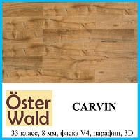 Ламинат для офиса с защитным покрытием воском толщиной 8 мм Oster Wald Hand Skrible 33 класс Carvin