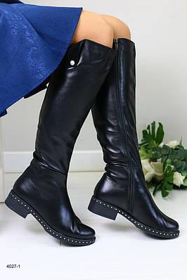 Женские кожаные сапоги  деми
