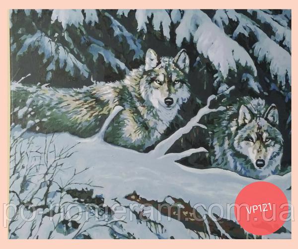 раскраска своими руками волки