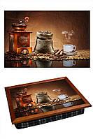 Поднос на подушке  BST 040284 44*36 коричневый только кофе!
