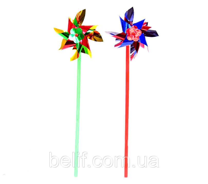 Вітрячок 2025-5 голограма,висота 28 см, квітка 10 см