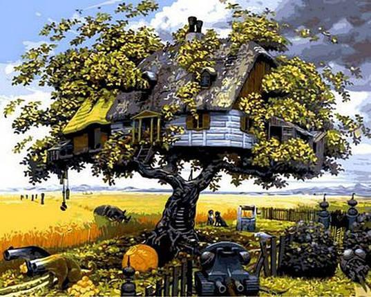 MR-Q544 Набор-раскраска по номерам Домик на дереве, фото 2