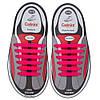 Силиконовые шнурки Coolnice розовые (6+6) 12 шт./комплект