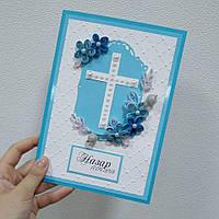 Поздравительная открытка на крестины, фото 1