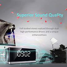 Портативная Bluetooth колонка + будильник + FM радиоприемник 3 в 1, фото 3