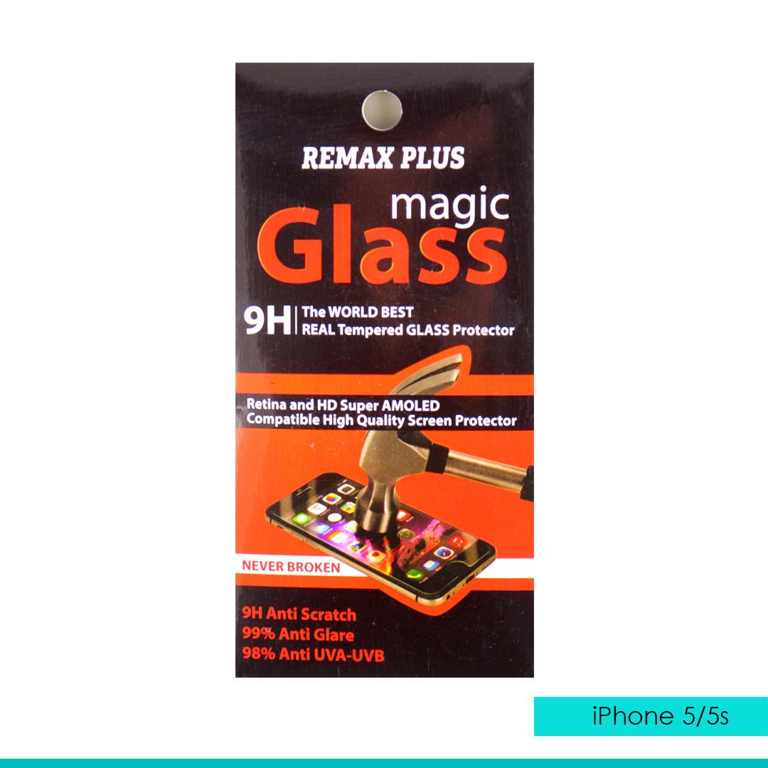 Стекло защитное Remax plus iphone 5/5s