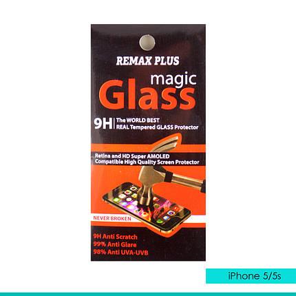 Стекло защитное Remax plus iphone 5/5s, фото 2