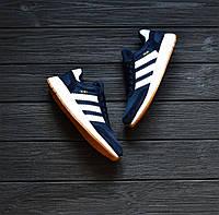 Мужские кроссовки Adidas Iniki Runner Blue&White Реплика ТОП Качества