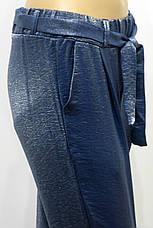 Женские брюки джоггеры на резинке с люрексом, фото 2