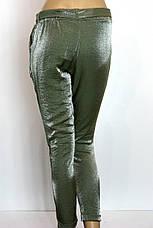 Женские брюки джоггеры на резинке с люрексом, фото 3