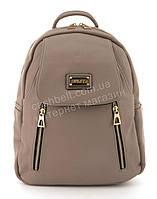 Прочный и надежный рюкзачок среднего размера из эко кожи Suliya art. 9528 розовая пудра, фото 1