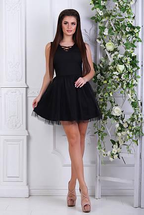 Платье с фатином чёрное от производителя, фото 2