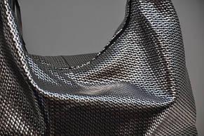 Сумка вместительная кожаная 969 плетение косы, фото 2