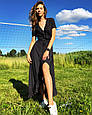 Длинное платье рюши на запах, фото 4