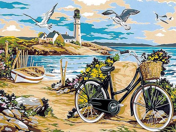 VK052 Раскраска по номерам Прогулка по пляжу, фото 2