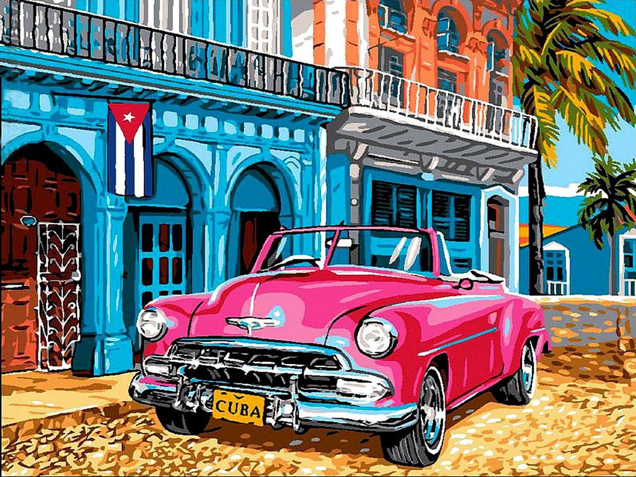 VK058 Раскраска по номерам Куба
