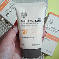 Солнцезащитный крем The Face Shop Natural Sun Eco Super Perfect Sun Cream SPF50+/PA+++