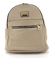 Прочный и надежный рюкзачок среднего размера из эко кожи Suliya art. 9524 хаки, фото 1
