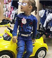 Костюм джинсовый для девочки. 7-11 месяцев