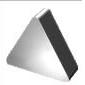 Пластина TNGN - 160408 ВК8(YG8) трехгранная (01131) гладкая без отверстия