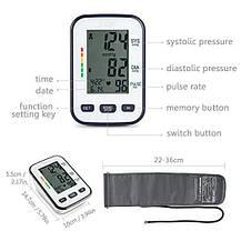 Монитор артериального давления и пульса с LCD экраном, фото 2